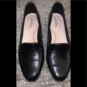 Ladies Clark's leather loafers